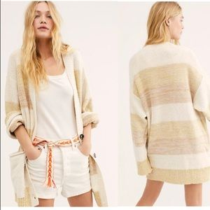 FREE PEOPLE Southport Beach Cardigan NWT S Grains
